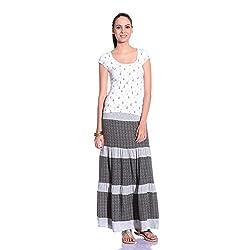 styleAVA Women's Skirt (SKRT_01_GREY01_Grey_Free Size)