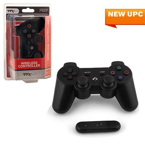 PS3 - Controller - Wireless - 2.4 GHZ Controller - Black (TTX Tech) joystick cap w cross shaped direction key shell for ps3 wireless controller black 3 pcs