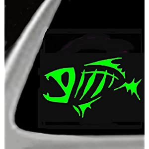 FISH BONES Vinyl STICKER / DECAL for Cars,Trucks,Etc. 5