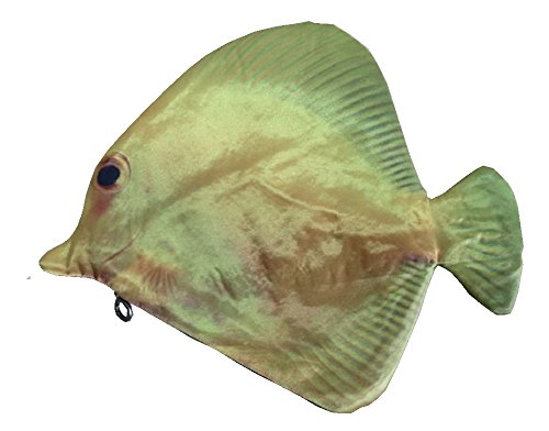 Cohaco Fish Zipper Pouch Weird Pen Pencil Case (Yellow tang fish)