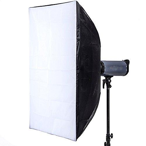 """Andoer 80 * 120cm / 31 """"* 47"""" Holder Softbox Diffuseur Boîtes de lumière avec Bowens de support et sac pour Speedlite Flash Light"""