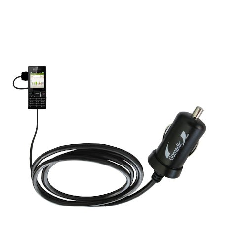 Mini 10W Car / Auto Dc Charger Designed For The Sony Ericsson Elm With Gomadic Brand Power Sleep Technology - Designed To Last With Tipexchange Technology