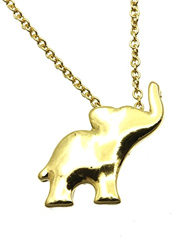 Gold Elephant Pendant Metal Necklace Fashion Jewelry And Accessory Beautiful Charms
