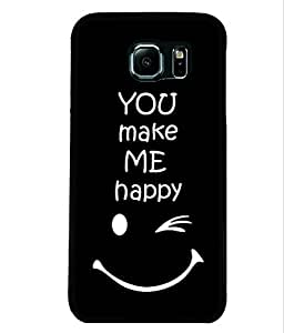 Fuson 2D Printed Quotes Designer back case cover for Samsung Galaxy S6 Edge - D4290
