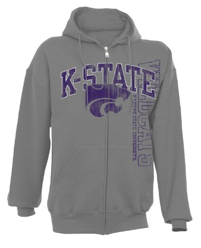 NCAA Kansas State Wildcats Dri-Power Fleece Full Zip Hood, Oxford, X-Large at Amazon.com
