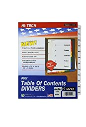 Kleer-Fax PDQ Table of Contents Dividers, 12 Tab - January through December, One Set, Black and White (41512)