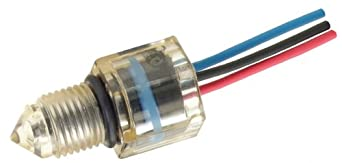 """Gems Sensors 223625 Polysulfone Float Rugged Electro-Optic Single Point Level Switch with 6"""" Lead Wire Length, 1/2""""- 20 UNF-2B, 12V DC, Dry"""