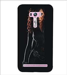 PrintDhaba Strong Girl D-5397 Back Case Cover for ASUS ZENFONE SELFIE ZD551KL ULTRA (Multi-Coloured)