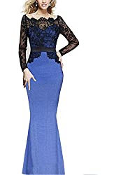 Viwenni® Women Lace Maxi Cocktail Party Evening Fromal Gown Dress