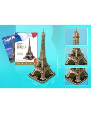 Cheap Cubic Fun Eiffel Tower Large 3D Puzzle With Book 116 Pcs (B002L2U532)