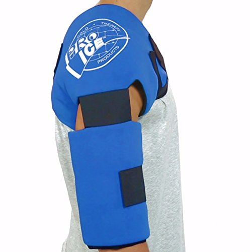 Adult Shoulder/Elbow Cold Therapy Ice Wrap - Long Lasting Pain Relief from Spasms & Swelling. Maintains Consistent Temperature. Built to Give Comfortable Fit (Ice Pack Sleeve compare prices)