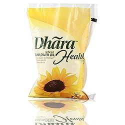 Dhara Oil - Sunflower, 1 L Pouch