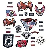 Live To Ride GFPATCH26 26 Piece Embroidered Motorcycle Patch Set (1 Pack)