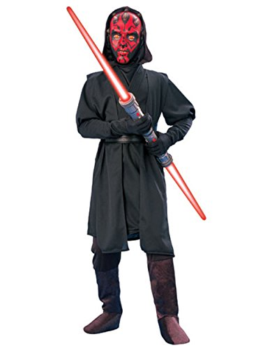Kids Boys Deluxe Darth Maul Costume And Lightsaber Bundle