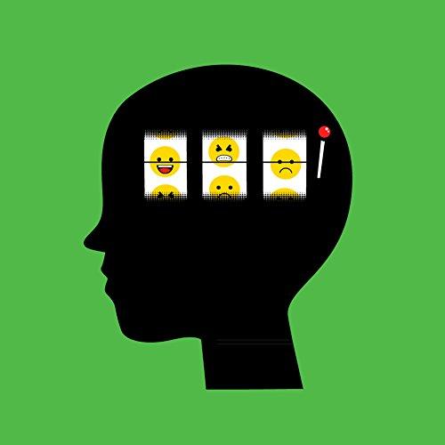 """Mood Of The Day"" Funny Casino Slot Machine Brain - Vinyl Sticker front-960988"