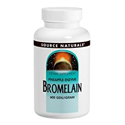 Source Naturals Bromelain, 500mg, 60 Tablets (Pack of 2)