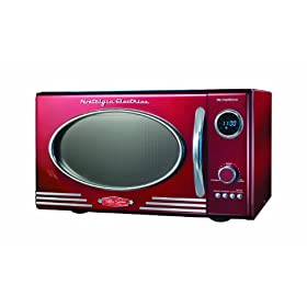 Nostalgia Electrics RMO-400BLK Retro Series 0.9-Cubic Foot Microwave Oven - Black