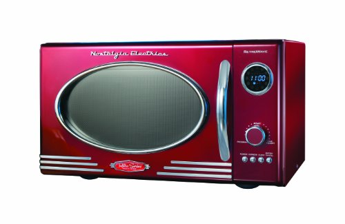 Review Nostalgia Electrics RMO-400RED Retro Series .9 CF Microwave Oven, Red