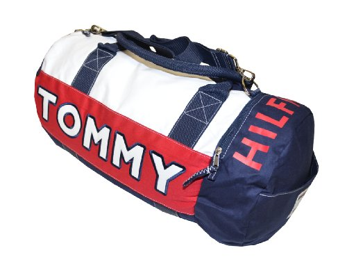 Tommy Hilfiger Big Logo Duffle Bag (One Size, Navy/White/Red)