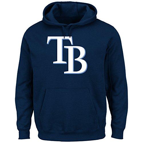 MLB Tampa Bay Rays Men's Tek Patch Fleece Sweatshirt, Medium, Navy