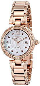Invicta Women's 15871 Angel Analog Display Swiss Quartz Rose Gold Watch