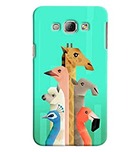 Blue Throat Animal Neck Pattern Printed Designer Back Cover/ Case For Samsung Galaxy A8