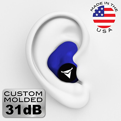 Decibullz Custom Molded Earplugs 31dB Highest NRR. Comfortable Hearing Protection for Shooting, Travel, Sleeping, Swimming, Work and Concerts. Add t