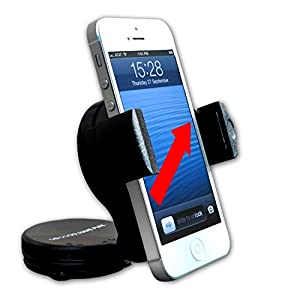 Car Phone Mount for Windshield & Dashboard from Do Good Have Fun - Fits iPhone 5 & 4, Samsung Galaxy S5, S4 & S3. Universal Mount Fits Most Cell Phones & Mobile Devices like HTC, Motorola, Blackberry Q Series, Garmin & TomTom GPS. Customer Satisfaction Guarantee.