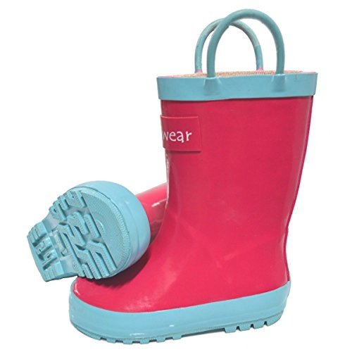 Rubber Rain Boots, Jazzy Pink 5