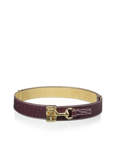 Yul Taylor Women's Stable Latch Belt, Berry As You See