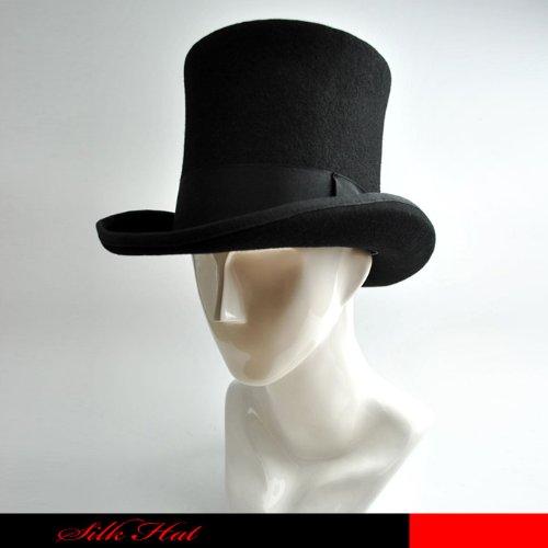 ヨーロピアンスタイル シルクタットクラウン 16cm シルクハット ブラック 黒