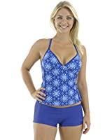 Zoggs Women's Blue Bazaar Tankini Swimming Costume