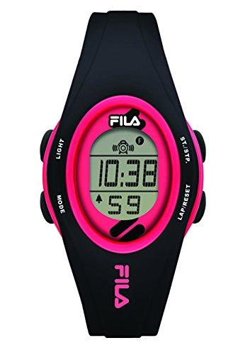 Fila-Bracciale unisex orologio digitale al quarzo 38-050-105fila Casual Nero Rosa Plastica