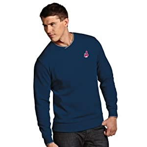 MLB Cleveland Indians Mens Executive Crew Sweater by Antigua