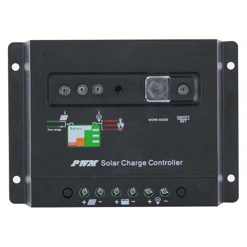 Amzdeal® Solar 30A Charge Power Controller / Regulator 12V / 24V 30 Amp With Led Indicato Rwith Pwm Type Of Charging-Black