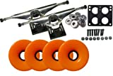LONGBOARD Skateboard TRUCKS WHEELS Package 76mm ORANGE