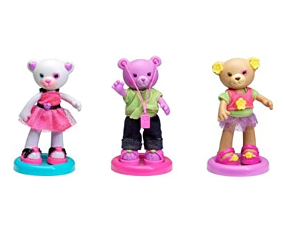 Build-A-Bear Workshop - Furbulous Fashion Friends 3-Pack Bundle (Fancy Bear/Grooving Bear/Daisy Bear)