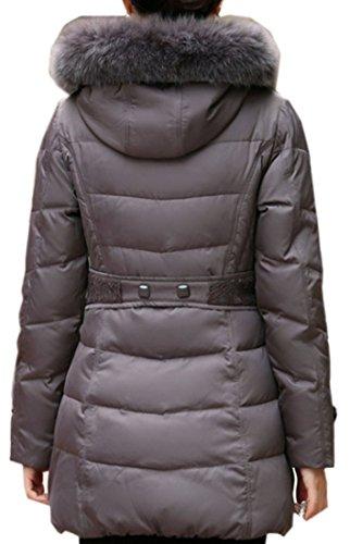 Blueblue Sky Women's Slim Down Coat with Real Fox Fur Hood#yr-5166 (XL, Light Purple)