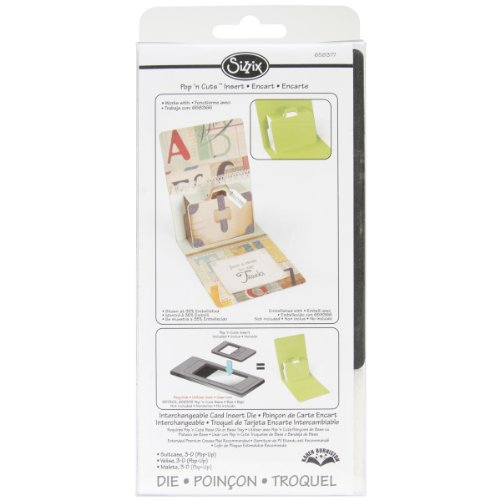 Sizzix Pop 'n Cuts Magnetic Insert Die - Suitcase, 3-D (Pop-Up) by Karen Burniston (Pop N Cuts Inserts compare prices)