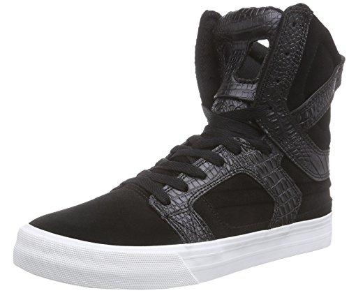 Supra SKYTOP II, Sneaker alta Unisex - adulto, Nero (Schwarz (BLACK  - WHITE   BLK)), 43
