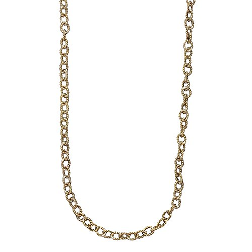 Waxing Poetic Twisted Link Brass Chain