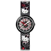 [フリックフラック]FLIKFLAK キッズ腕時計 Tresure & License(トレジャー&ライセンス) HELLO KITTY GOTHIC(ハロー・キティ・ゴシック) FLN059 ガールズ 【正規輸入品】