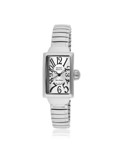 Glam Rock Women's MBD27046 Miami Beach Art Deco Silver Stretch Watch
