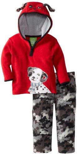 Watch Grow Me! by-Sesame Street, a forma di cane per bambini, 2 pezzi-Felpa con cappuccio e pantaloni, colore: mimetico, colore: rosso, 12 mesi, colore: rosso, taglia: 12 mesi da neonato Baby, bambino