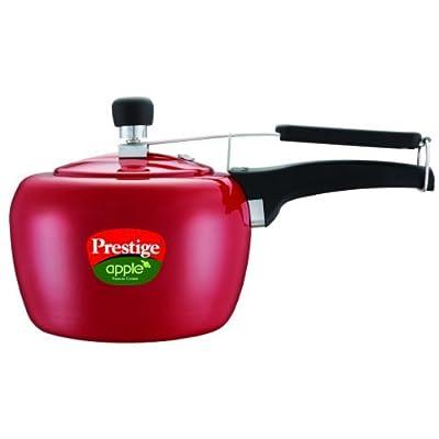 Prestige Apple Aluminum Red Color Pressure Cooker, 3-Liter