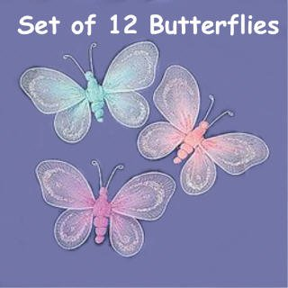 Nylon Butterflies Butterfly Decorations Bedroom Decor Hang Them From The Ceiling Curtains Etc