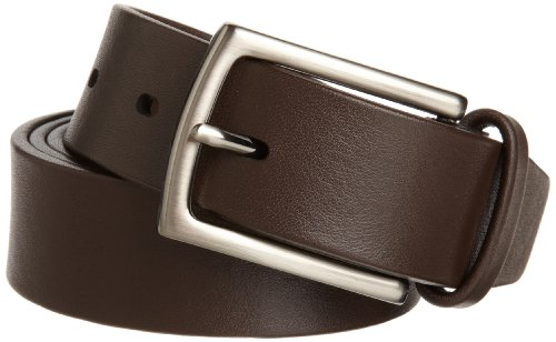 Perry Ellis Men's Tubular Dress Belt, Chocolate,