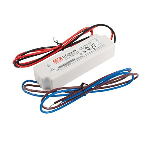Mw Mean Well Lpv-20-24 Led Driver 20.2W 24V Ip67 Power Supply Waterproof