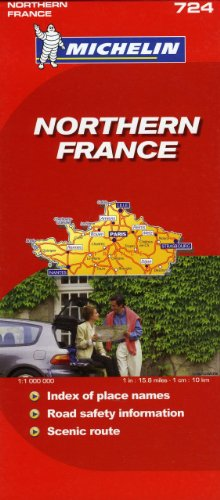 Michelin Map France, North 724 (Maps/Country (Michelin))