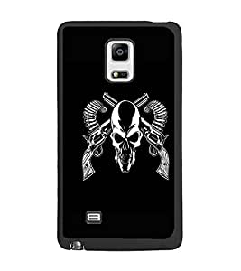 PrintDhaba Skull D-1187 Back Case Cover for SAMSUNG GALAXY NOTE 4 EDGE (Multi-Coloured)